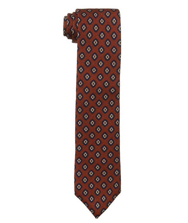 Neat Printed Wool-Silk Tie picture 1