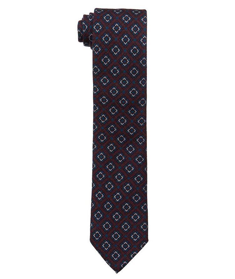 Neat Printed Wool-Silk Tie image 0