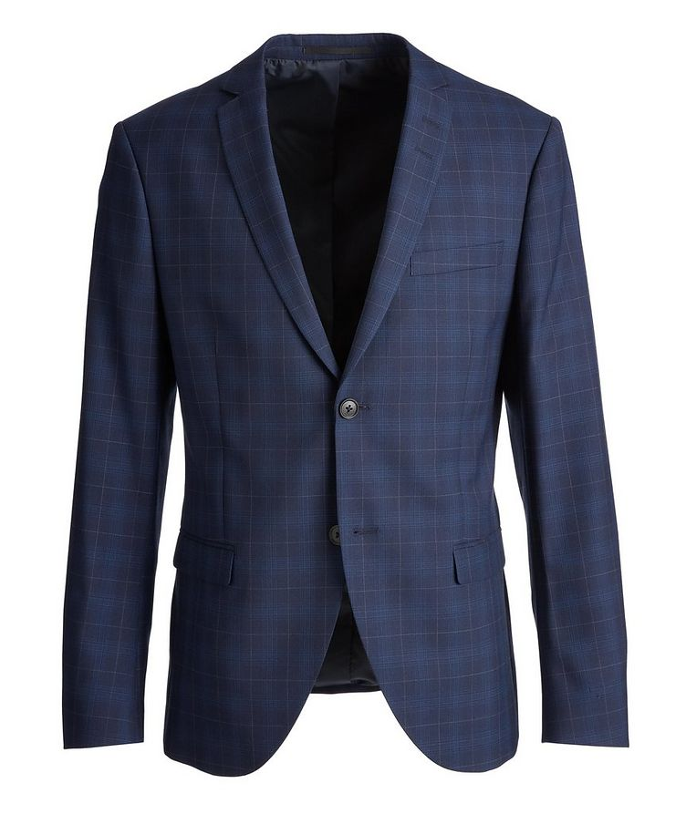 Slim-Fit S.Jules Checked Wool-Blend Suit image 0