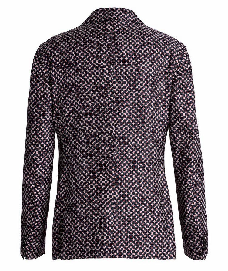 Giacca AMF Slim-Fit Printed Silk Sports Jacket image 1