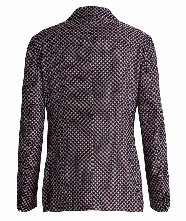Giacca AMF Slim-Fit Printed Silk Sports Jacket picture 2