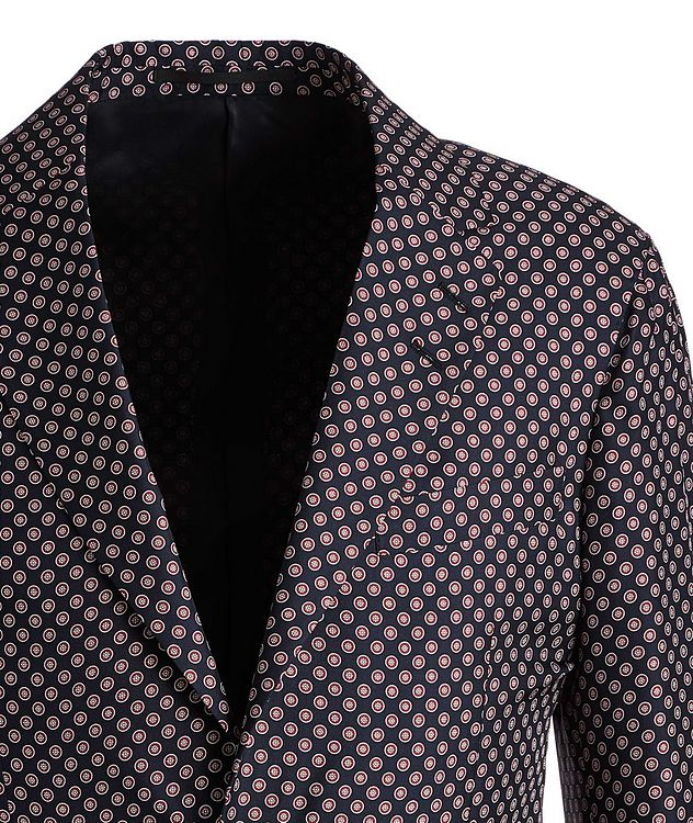 Giacca AMF Slim-Fit Printed Silk Sports Jacket picture 3