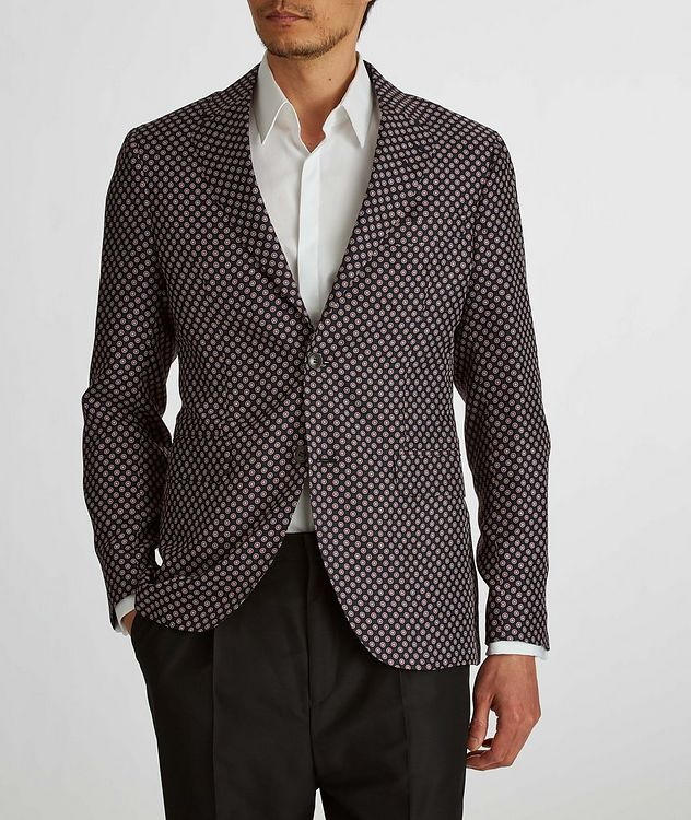 Giacca AMF Slim-Fit Printed Silk Sports Jacket picture 4