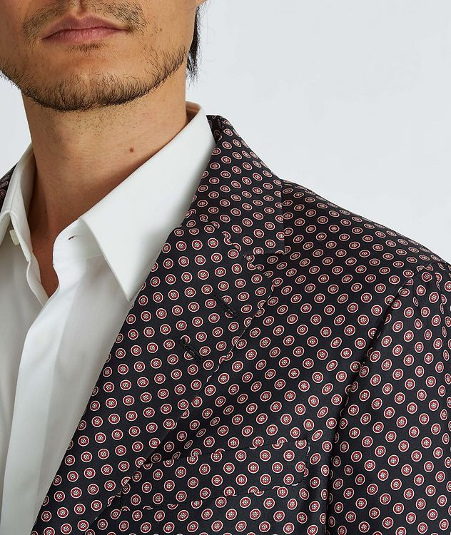 Giacca AMF Slim-Fit Printed Silk Sports Jacket picture 5