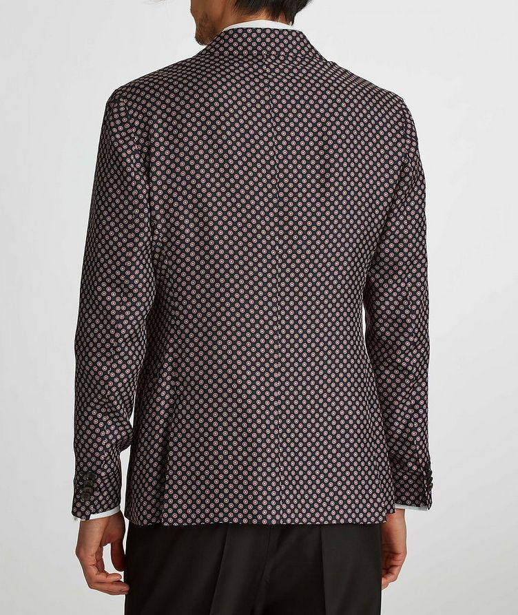 Giacca AMF Slim-Fit Printed Silk Sports Jacket image 5