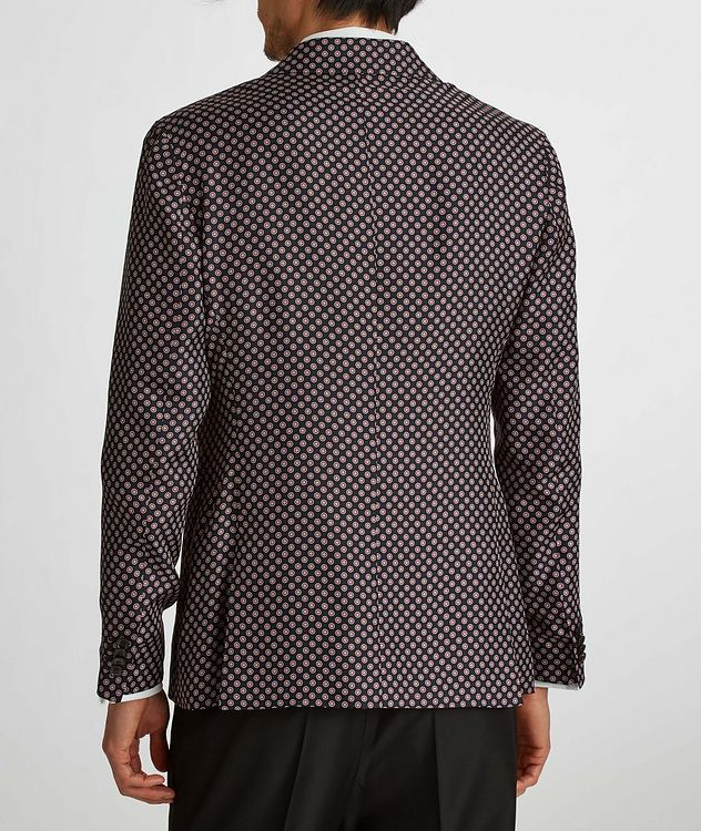 Giacca AMF Slim-Fit Printed Silk Sports Jacket picture 6