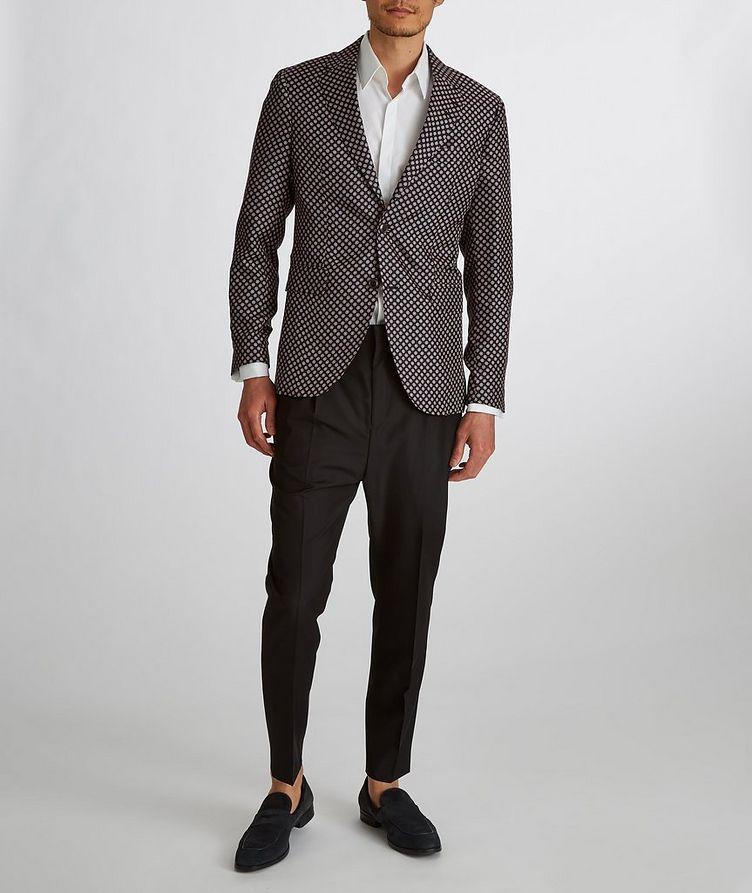 Giacca AMF Slim-Fit Printed Silk Sports Jacket image 6