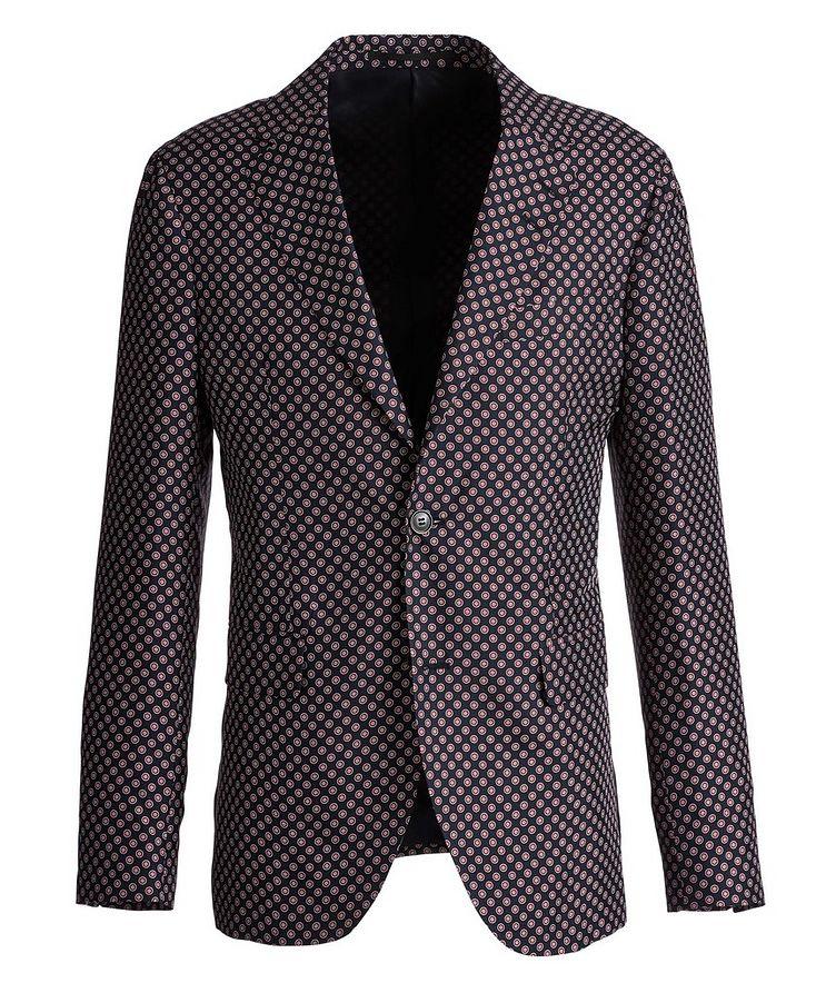 Giacca AMF Slim-Fit Printed Silk Sports Jacket image 0