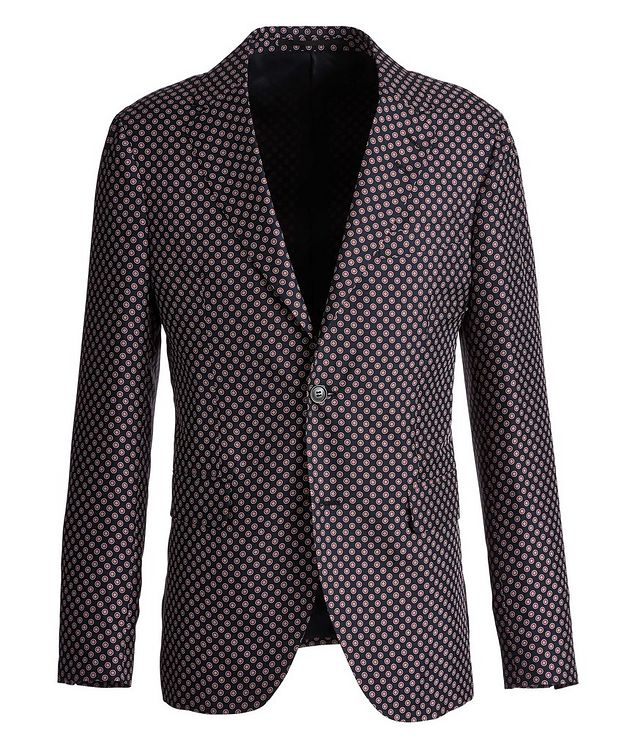 Giacca AMF Slim-Fit Printed Silk Sports Jacket picture 1