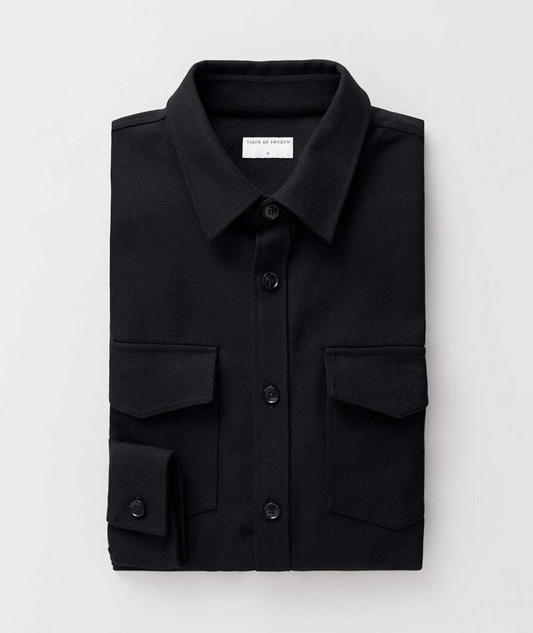 Herringbone Cotton Shirt Jacket image 1
