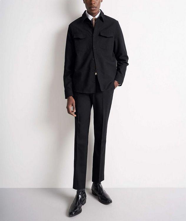 Herringbone Cotton Shirt Jacket picture 4