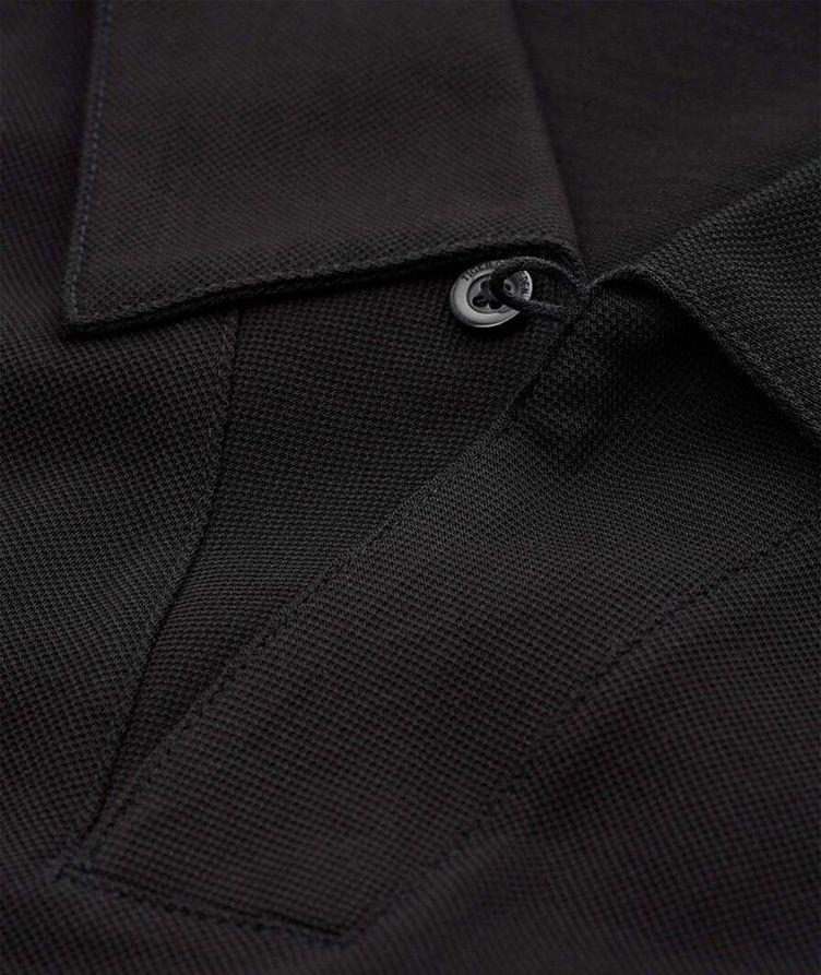 Polo en coton mercerisé à manches longues image 1