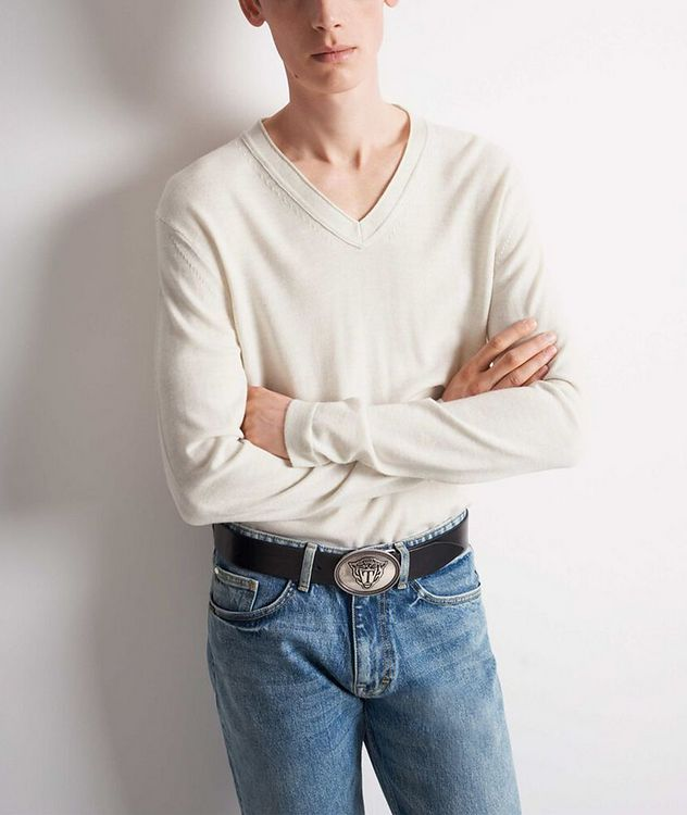 V-Neck Wool Sweater picture 2