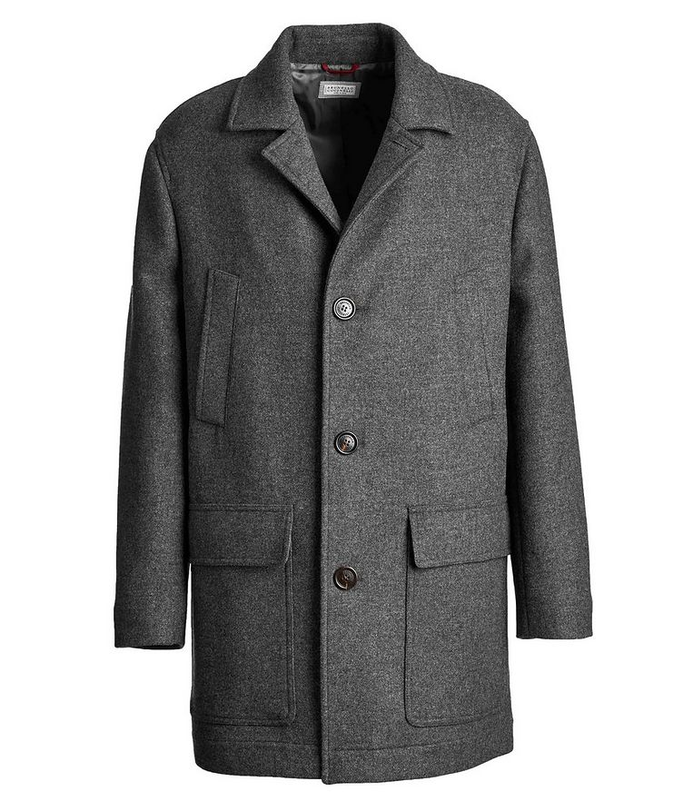 Virgin Wool Peacoat image 0