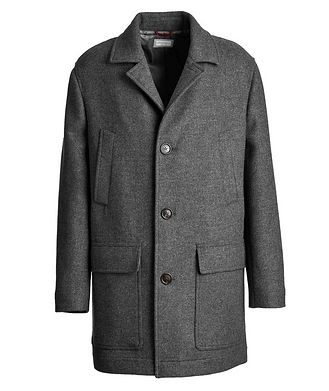 Brunello Cucinelli Virgin Wool Peacoat