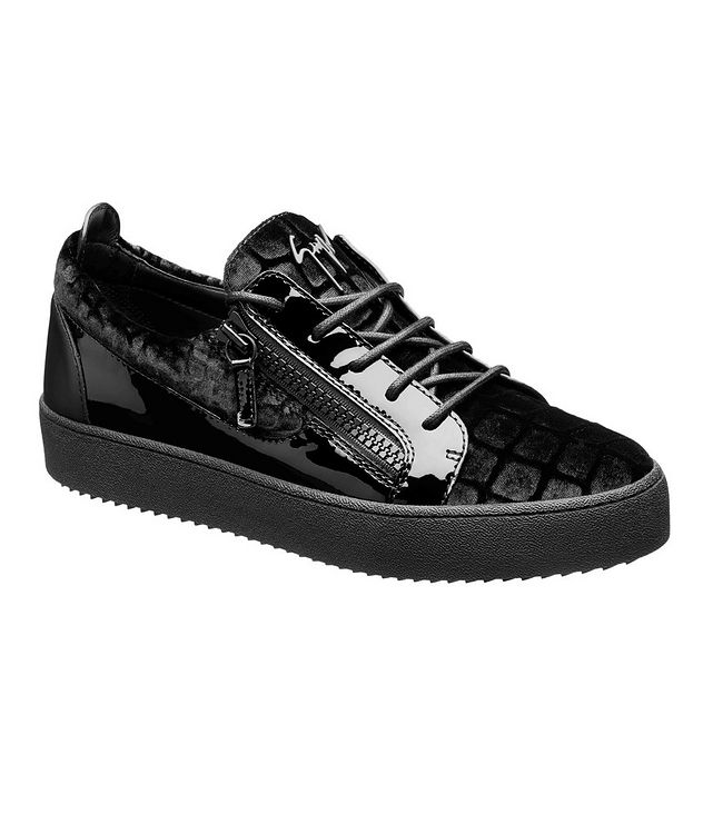 Frankie Crocodile-Print Low-Tops picture 1