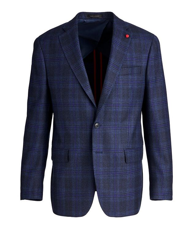 Checked Wool Sports Jacket picture 1