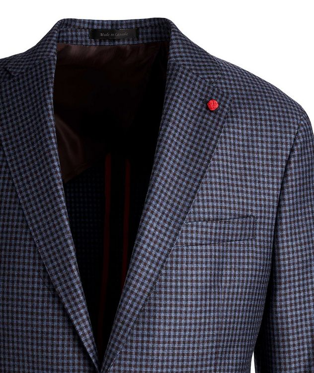 Gingham Wool Sports Jacket picture 2