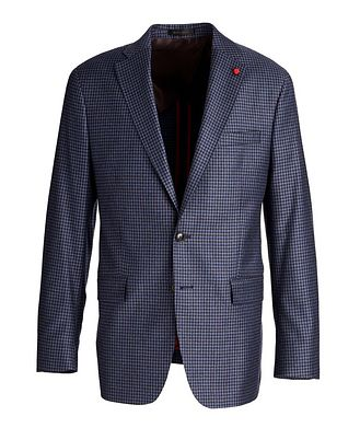 TAILORED Gingham Wool Sports Jacket