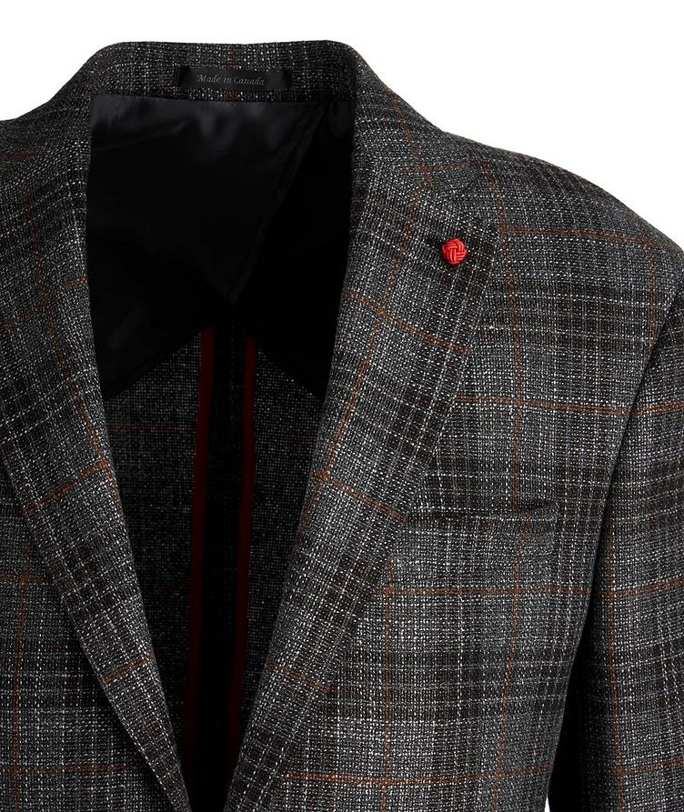 Checked Wool-Silk Sports Jacket image 1