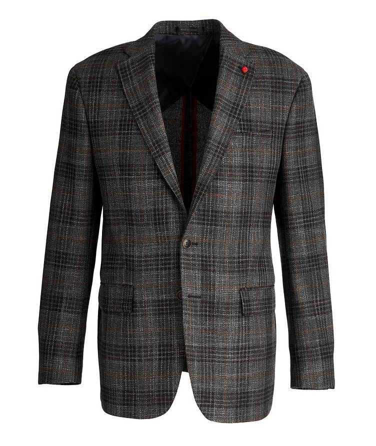 Checked Wool-Silk Sports Jacket image 0