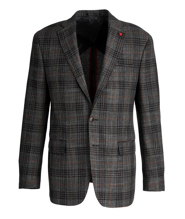 Checked Wool-Silk Sports Jacket picture 1
