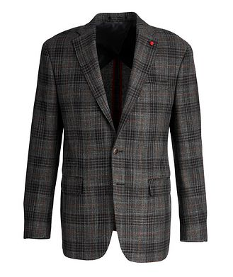 TAILORED Checked Wool-Silk Sports Jacket