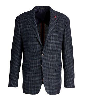 TAILORED Veston en tweed de laine et soie