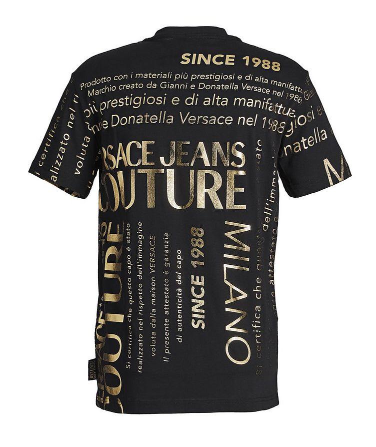 Text-Printed Cotton T-Shirt image 1