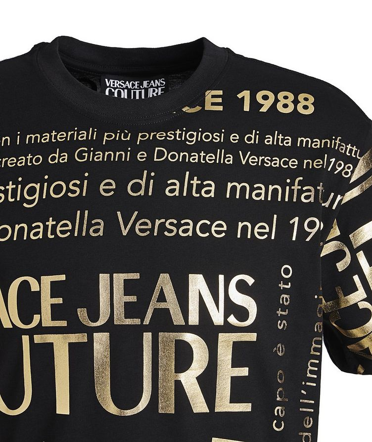 Text-Printed Cotton T-Shirt image 2