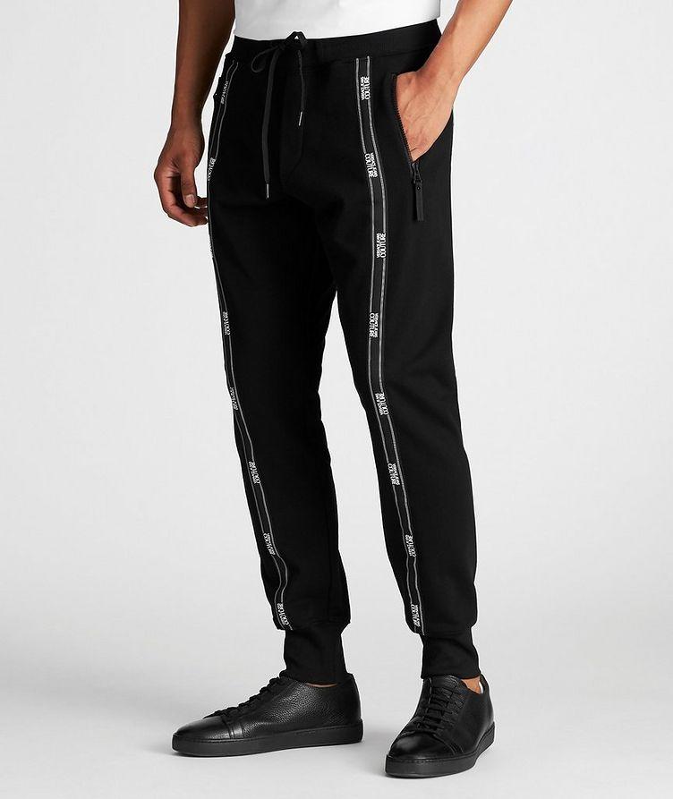 Pantalon sport avec logos et à cordon image 1
