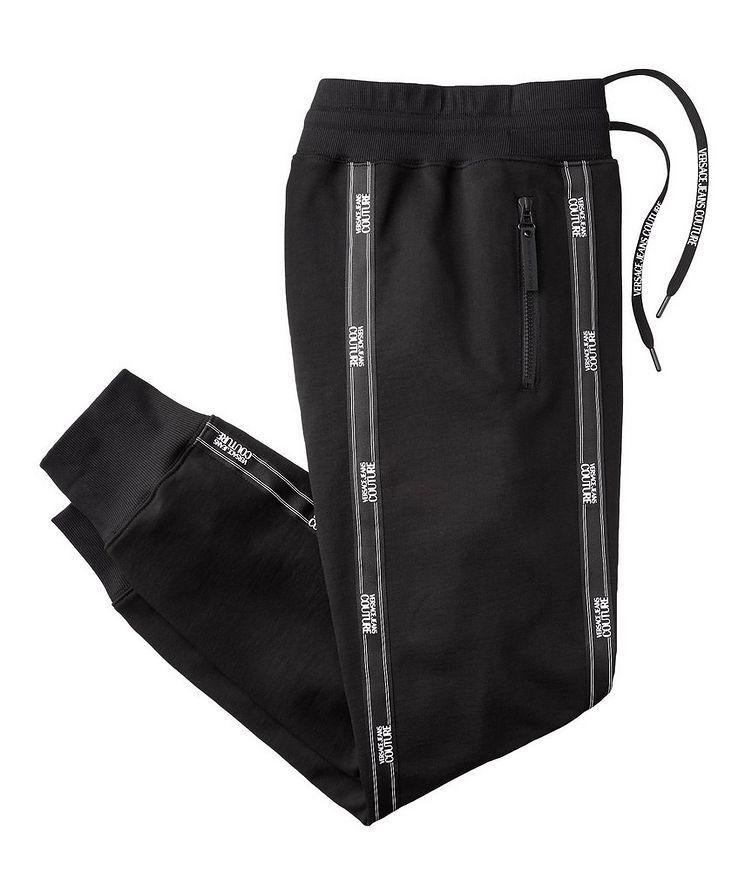 Pantalon sport avec logos et à cordon image 0