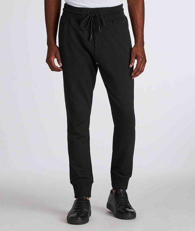 Drawstring Cotton Joggers picture 2