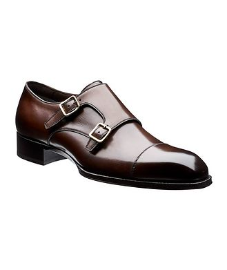 Tom Ford Leather Double Monkstraps