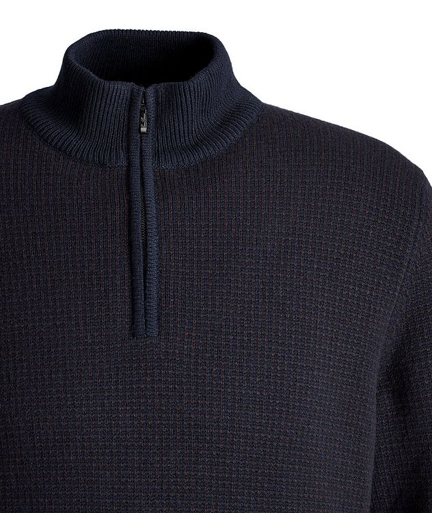 Baker Quarter-Zip Baby Cashmere Sweater picture 2