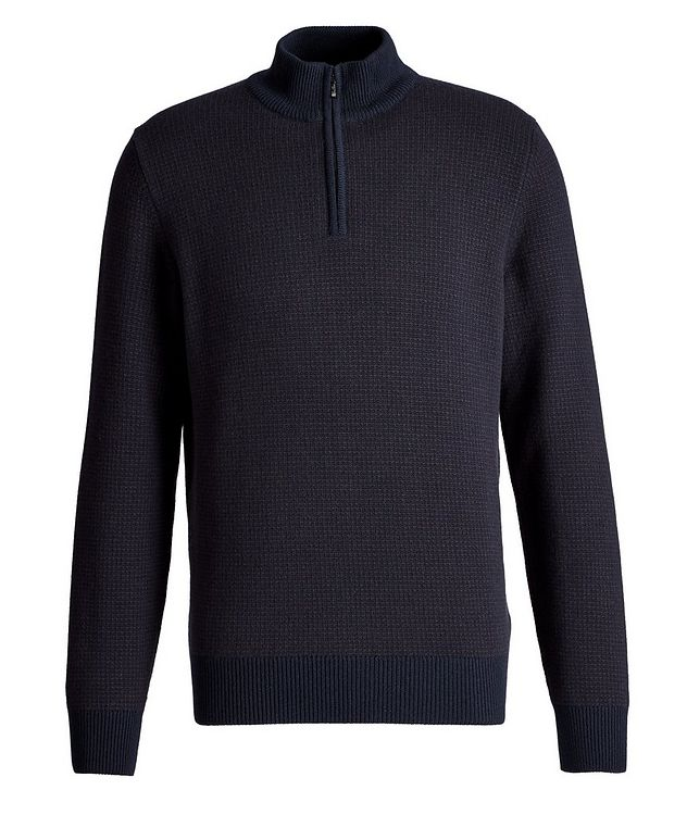 Baker Quarter-Zip Baby Cashmere Sweater picture 1