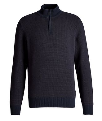 Loro Piana Baker Quarter-Zip Baby Cashmere Sweater