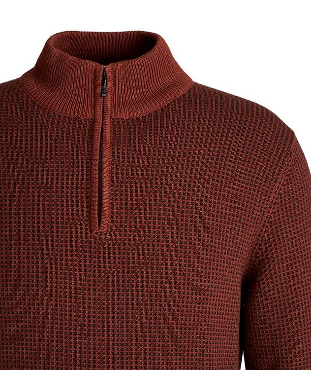 Baker Quarter-Zip Baby Cashmere Sweater picture 3