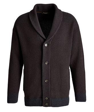 Loro Piana Gateway Shawl Collar Ribbed Cardigan