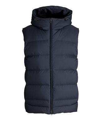 Loro Piana Fillmore Green Storm System Hooded Down Vest