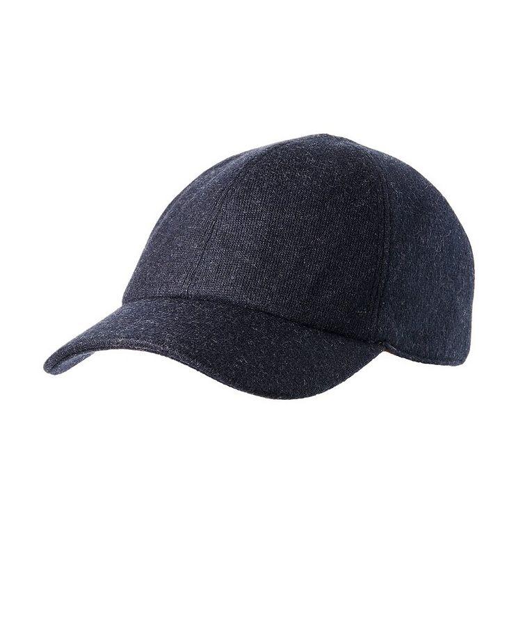 Cashmere-Blend Baseball Cap image 0