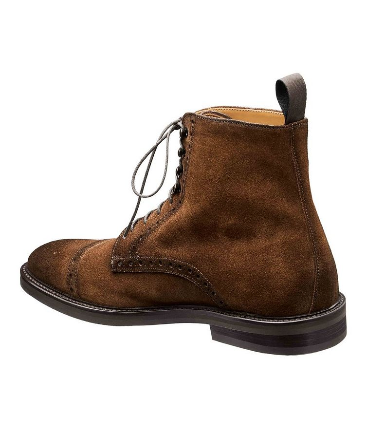 Suede Cap-Toe Boots image 1