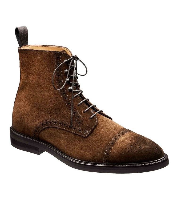 Suede Cap-Toe Boots image 0