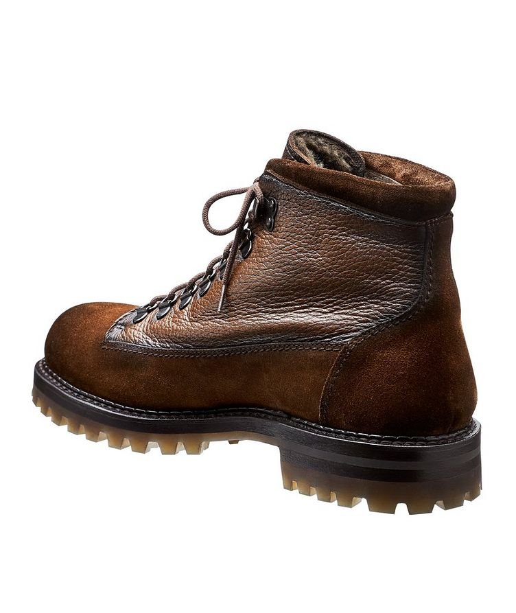 St. Mauritz Deerskin and Suede Alpine Boots image 1