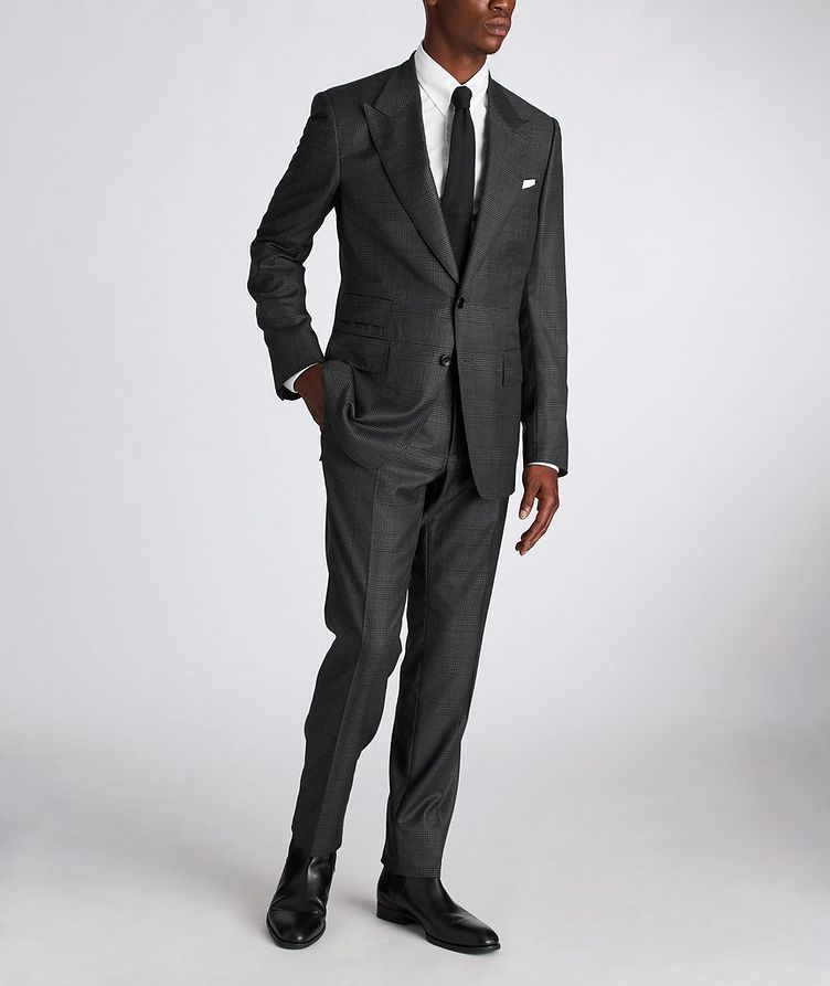Shelton Glen-Checked Wool-Silk Suit image 1