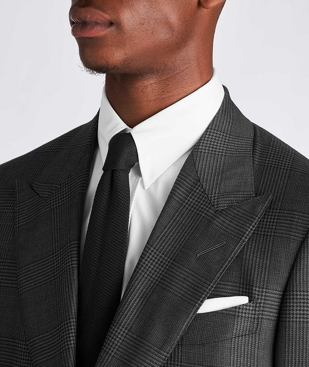 Shelton Glen-Checked Wool-Silk Suit picture 4