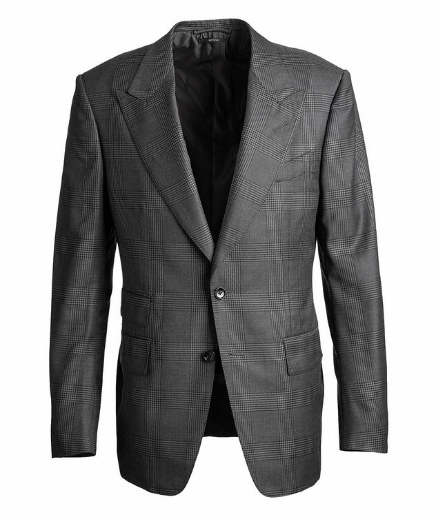Shelton Glen-Checked Wool-Silk Suit picture 1