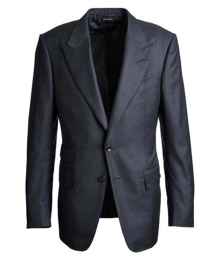 Shelton Glen-Checked Wool-Silk Suit image 0