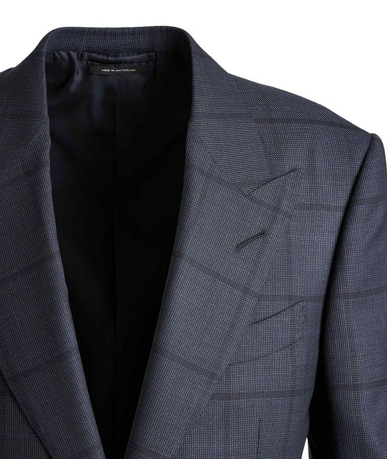 Shelton Windowpane Wool-Silk Suit image 2