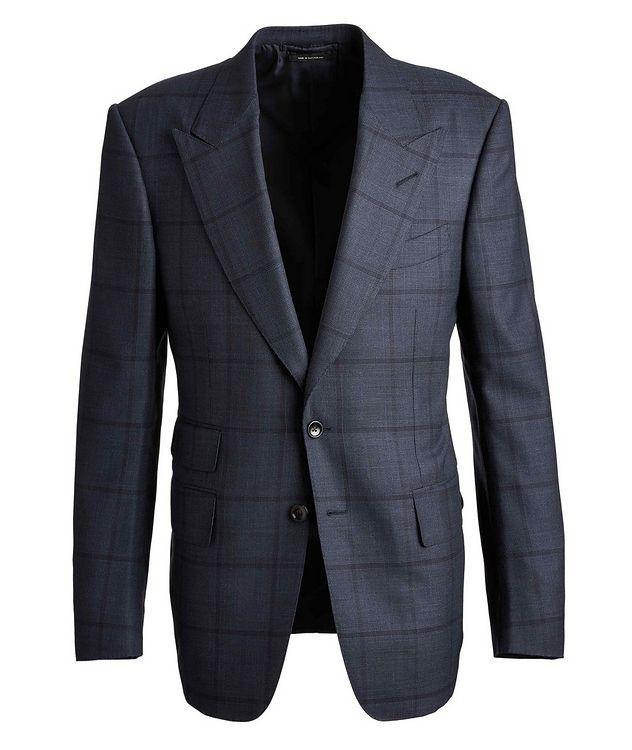 Shelton Windowpane Wool-Silk Suit picture 1